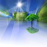 Eco Gallery. Green ecology concept for your design Stock Images