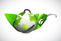 Eco gas oil, power and energy concept. green Stock Photography