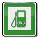 Eco-gas station and alternative Royalty Free Stock Photos