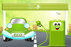 Eco gas station Stock Photo