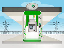 Eco gas station Royalty Free Stock Images