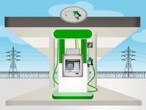 Eco gas station Stock Photo
