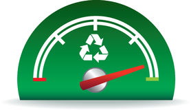 Eco gauge. Showinga great performance for recycling Royalty Free Stock Image