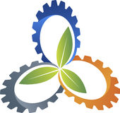 Eco gear logo Royalty Free Stock Photo