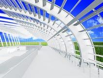 Eco Gebäude in der Natur Lizenzfreie Stockfotos