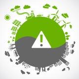Eco gegen Grau Lizenzfreies Stockbild