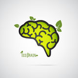 Eco-Gehirn Lizenzfreie Stockbilder