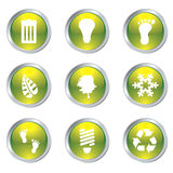 Eco gel icons Royalty Free Stock Photos