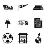Eco geplaatste de bouwpictogrammen, eenvoudige stijl Stock Foto