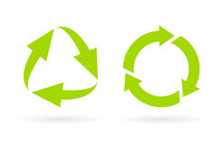 Eco gerecycleerd cyclus vectorpictogram royalty-vrije illustratie