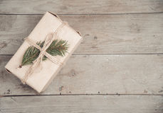 Eco gift box, copyspace Stock Photography