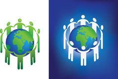 Eco globe ring Royalty Free Stock Image