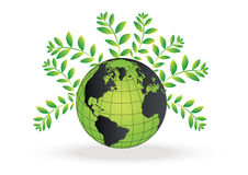 Eco Globe vector Stock Image