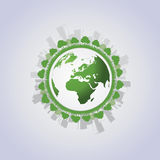 Eco Globe Vector Royalty Free Stock Images