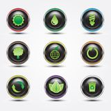 Eco glossy button Royalty Free Stock Photos