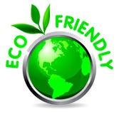Eco glossy icon Stock Photo