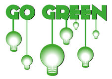 Eco go green text Royalty Free Stock Images