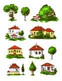 Eco gospodarstwa rolnego ilustracja ilustracji