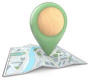 Eco GPS Pinter. Stock Image