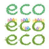 Eco gräsplan lämnar treen Royaltyfria Foton