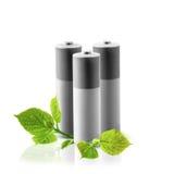 Eco-Grün-Energiebatterien Stockfotografie