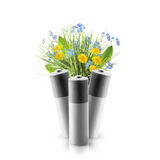 Eco-Grün-Energiebatterien Lizenzfreies Stockfoto