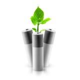 Eco-Grün-Energiebatterien Stockbild