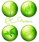 Eco grüne Tasten Stockfotos