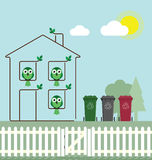 Eco grünes Haus Lizenzfreie Stockbilder