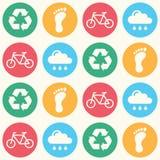 Eco grünes nahtloses Hintergrundmuster stock abbildung