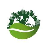 Eco-Grünstadt lizenzfreie abbildung