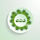 ECO grass button presentation Stock Photo