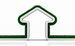 Eco grass house Stock Photography