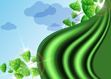 Eco Green Background With Leaves. Vector Illustration. Eps 10 Stock Image