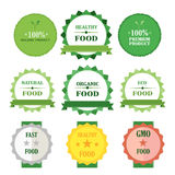 Eco green badges  illustration set Royalty Free Stock Photo