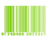 Eco green bar code Royalty Free Stock Photos