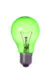 Eco green bulb Stock Image