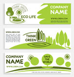 Eco green business banner template design Royalty Free Stock Photo