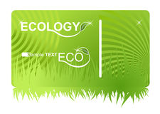 Eco green business card Stock Image