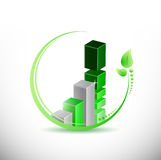 Eco green business leave graph illustration Stock Photos