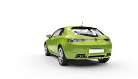 Eco Green Car. Tail View Stock Image