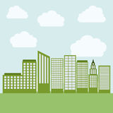 Eco and green city design Stock Images