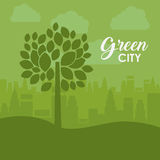 Eco and green city design Royalty Free Stock Photo