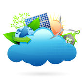 Eco green Cloud computing concept Stock Image