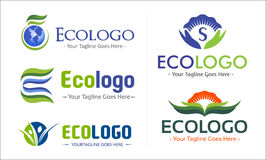 Eco Green Company Logo Pack Royalty Free Stock Photo