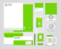 Eco green corporate identity template Stock Photos