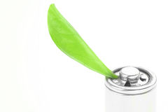 Eco green energy battery Stock Images
