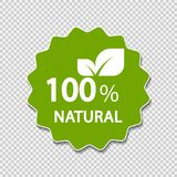 Eco green energy concept,100 percent natural label. Vector illustration. Eco green energy concept,100 percent natural label Stock Photos