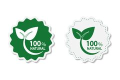Eco green energy concept,100 percent natural label. Vector illustration. Eco green energy concept,100 percent natural label. Vector Royalty Free Stock Photo