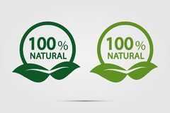 Eco green energy concept,100 percent natural label. Vector illustration. Eco green energy concept,100 percent natural label stock illustration